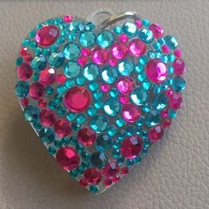 Jewelry - Rhinestone heart charm for necklace
